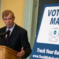 A Month From Election, Galvin Talks Up Early Voting Options